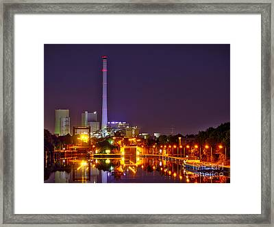 Powerhouse In A Sea Of Lights Framed Print
