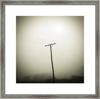 Powerlines Framed Print by Les Cunliffe