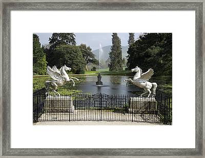 Powerscourt House Terrace And Fountain Framed Print
