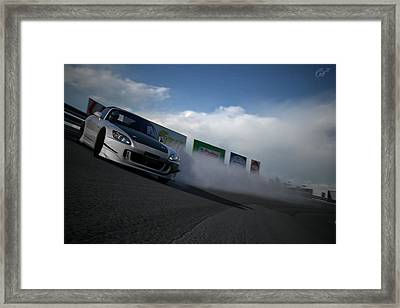 Powerslide Framed Print by Michael Murphy
