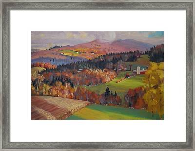 Pownel Vermont Framed Print