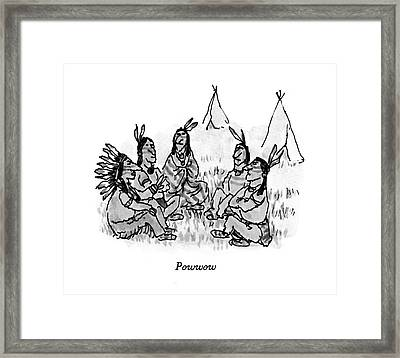 Powwow Framed Print by William Steig