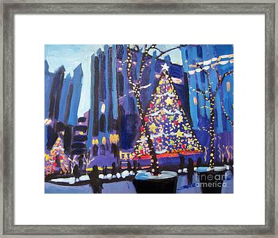 Ppg Plaza Holidays Framed Print by Tara Zalewsky