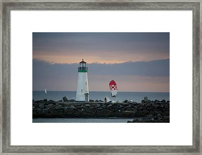pr 200 - The Sailboats Framed Print by Chris Berry