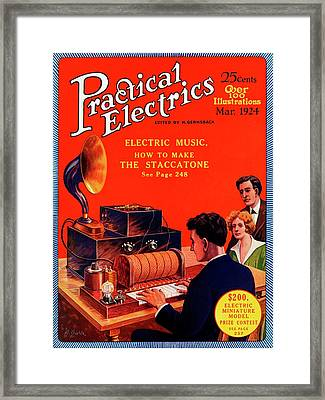Practical Electrics Front Cover Framed Print by Universal History Archive/uig
