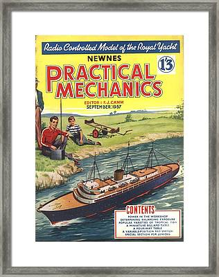 Practical Mechanics 1950s Uk Diy Boats Framed Print by The Advertising Archives