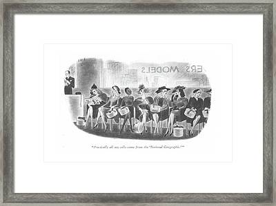 Practically All My Calls Come From The 'national Framed Print by Richard Taylor