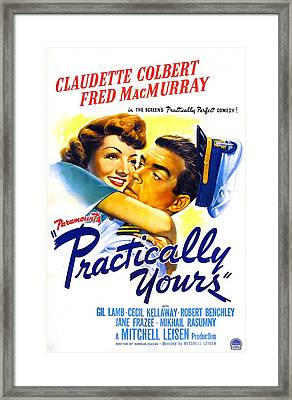 Practically Yours, Us Poster, Claudette Framed Print