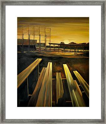 Practice Fields Framed Print by Lindsay Frost