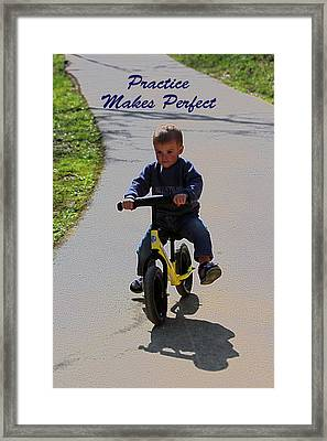 Practice Makes Perfect Framed Print by Lorna Rogers Photography