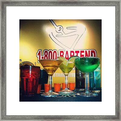 Practice Round. #margarita #martini Framed Print