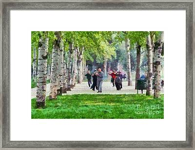 Practicing Martial Arts Framed Print by George Atsametakis