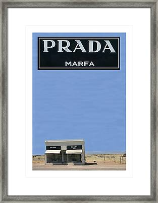 Prada Marfa Texas Framed Print
