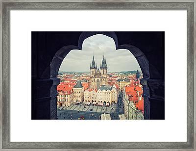 Prague - Old Town Square Framed Print by Alexander Voss