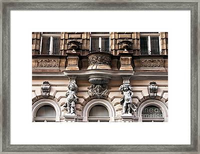 Prague Architecture Framed Print by John Rizzuto