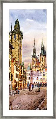 Prague Astronomic Clock  Framed Print by Dmitry Koptevskiy