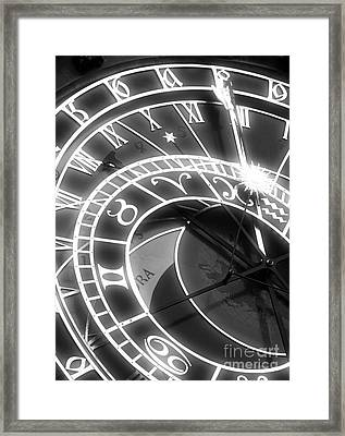 Prague Astronomical Clock Framed Print by John Rizzuto
