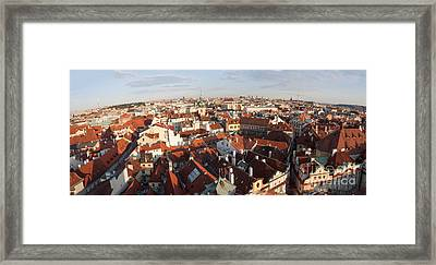 Prague At Dusk Framed Print by Thomas Marchessault