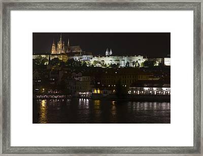 Prague By Night Framed Print by Chris Smith