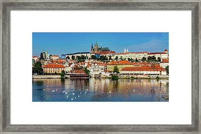 Prague Castle And Old Town Framed Print