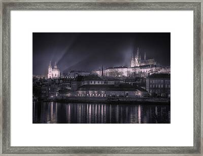 Prague Castle And St Nicholas Framed Print by Joan Carroll