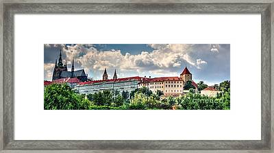 Framed Print featuring the photograph Prague Castle by Joe  Ng
