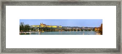 Prague Castle Prask Hrad And Charles Framed Print by Panoramic Images