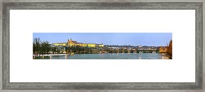 Prague Castle Prask Hrad And Charles Framed Print