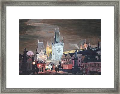 Prague Charles Bridge - Karluv Most Framed Print by M Bleichner