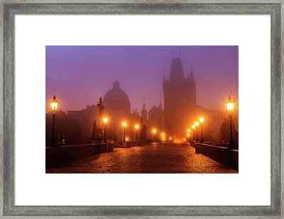 Prague, Czech Republic, Charles Bridge Framed Print by B&m Noskowski