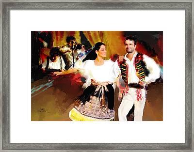 Prague Dancers Framed Print