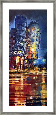 Prague Dancing House  Framed Print by Yuriy Shevchuk