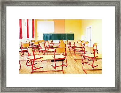 Prague - Empty Classroom At State Framed Print