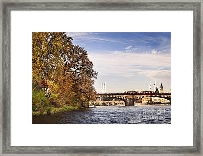 Prague From Vltava Framed Print