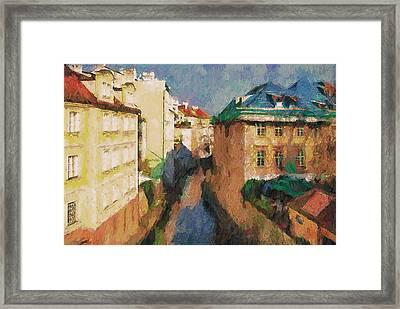 Prague Like Venice 2 Framed Print by Yury Malkov