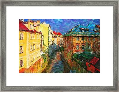 Prague Like Venice Framed Print by Yury Malkov