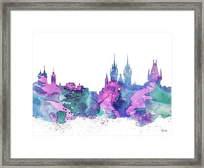 Prague Framed Print by Watercolor Girl