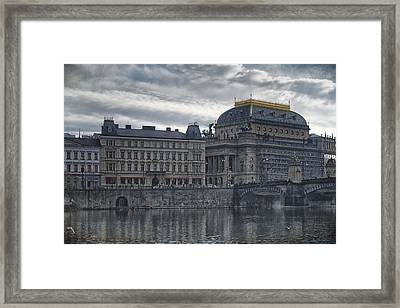 Prague National Theatre Framed Print