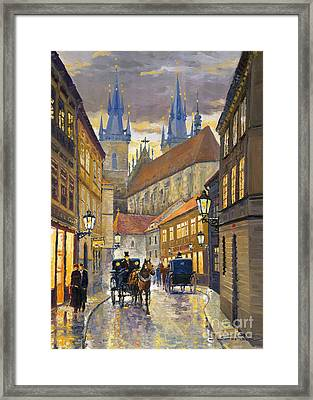 Prague Old Street Stupartska Framed Print by Yuriy Shevchuk