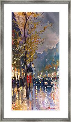 Prague Old Vaclavske Square 01 Framed Print by Yuriy  Shevchuk