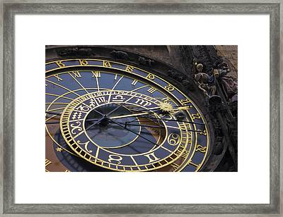 Prague Orloj Framed Print by Adam Romanowicz