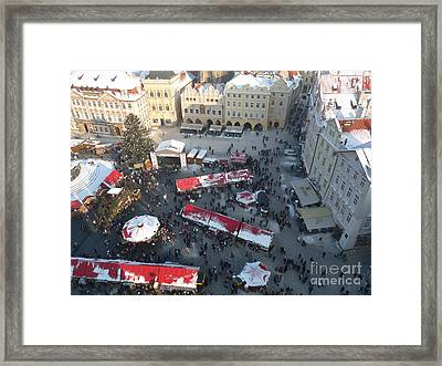 Framed Print featuring the photograph Prague Shoppers by Deborah Smolinske