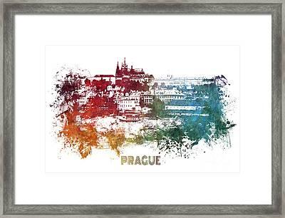 Prague Skyline Framed Print
