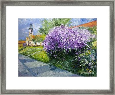 Prague Spring Loreta Lilacs Framed Print