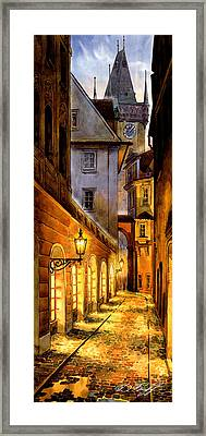 Prague Street Melantrichova Framed Print by Dmitry Koptevskiy
