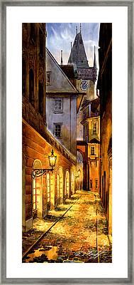 Prague Street Melantrichova Framed Print