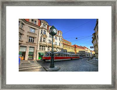 Prague Streetcar Framed Print