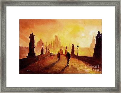 Prague Sunrise Framed Print by Ryan Fox