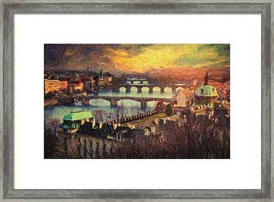 Prague Framed Print by Taylan Apukovska