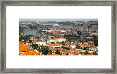 Prague - View From Castle Tower - 02 Framed Print by Gregory Dyer